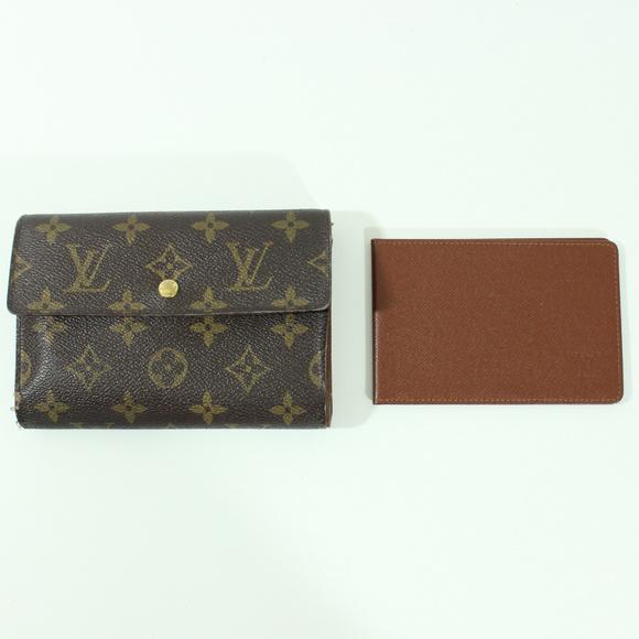 louis vuitton monogram trifold wallet check book